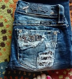 NWOT MISS ME embellished signature boot jeans